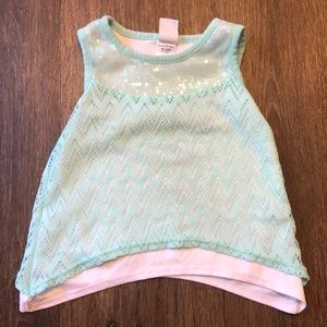 Healthtex Lace and Sequin Tanktop